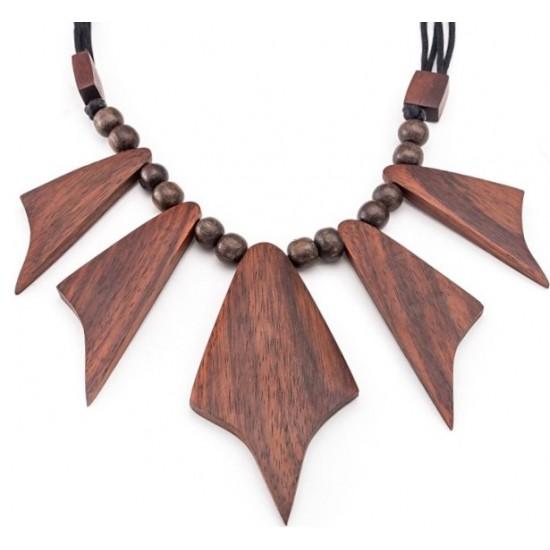 Деревянное Колье Zara Leaf