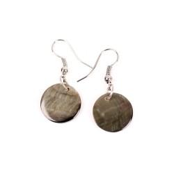 Серьги Coins Grey